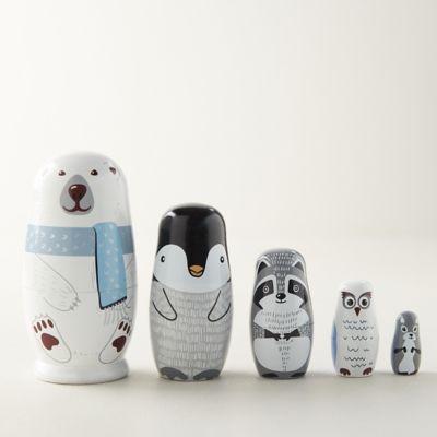 Polar Bear Matryoshka Nesting Dolls