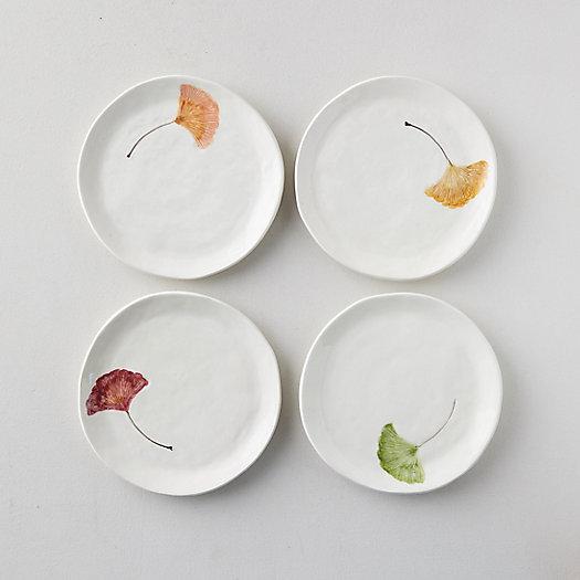 View larger image of Ginkgo Leaf Salad Plates, Set of 4