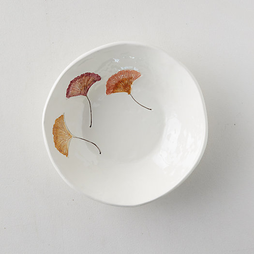 View larger image of Ginkgo Leaf Serving Bowl