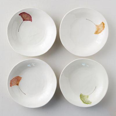 Ginkgo Leaf Pasta Bowls, Set of 4