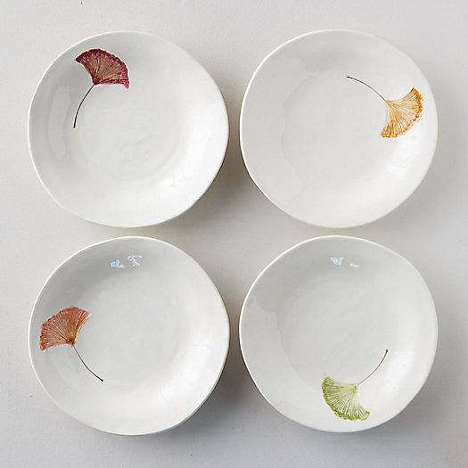 View larger image of Ginkgo Leaf Pasta Bowls, Set of 4