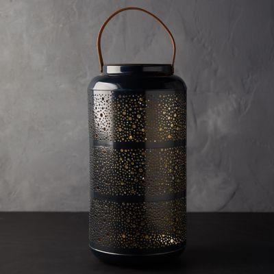 Punched Metal LED Lantern