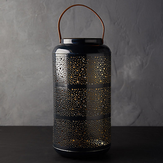 View larger image of Punched Metal LED Lantern
