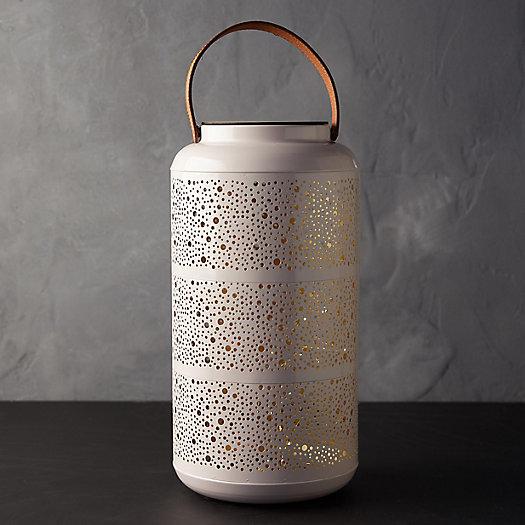 View larger image of Punched Metal LED Lantern