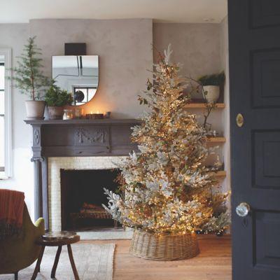 Faux Snowy Pre-Lit Norway Spruce Tree