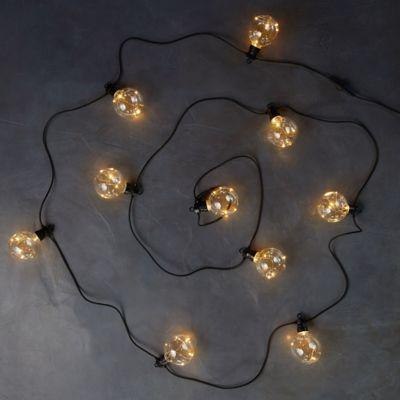 Twinkling Plastic Globe Light String