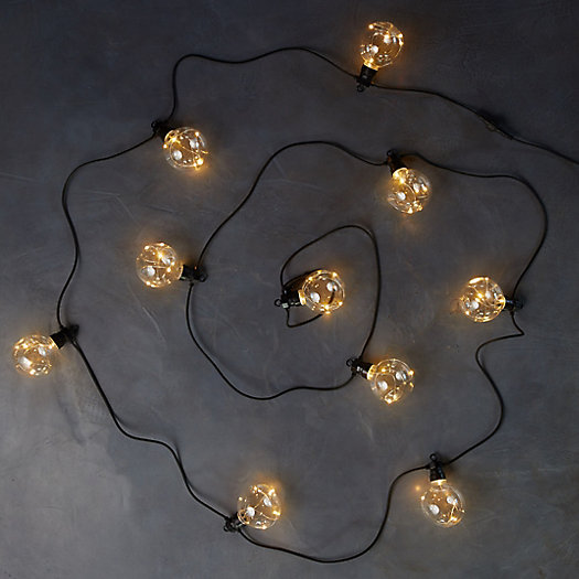 View larger image of Twinkling Plastic Globe Light String