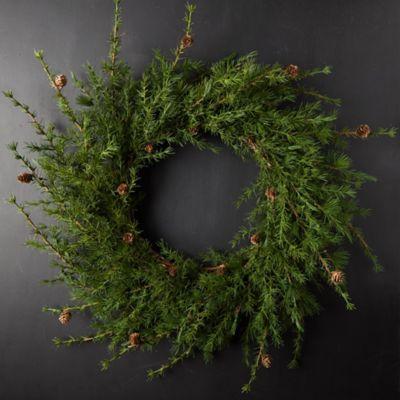 Faux Larch Wreath