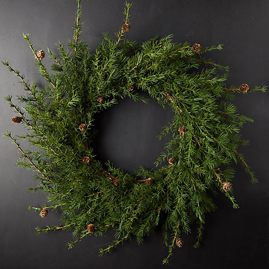 View larger image of Faux Larch Wreath