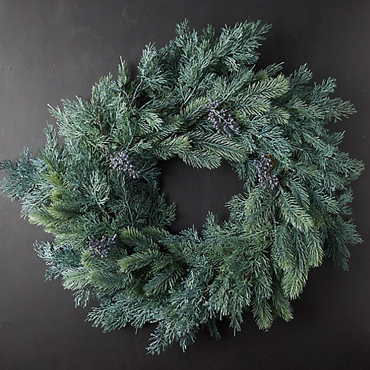 View larger image of Faux Blue Pine Wreath