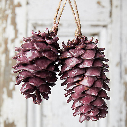 View larger image of Waxed Pine Cone Ornaments, Set of 2