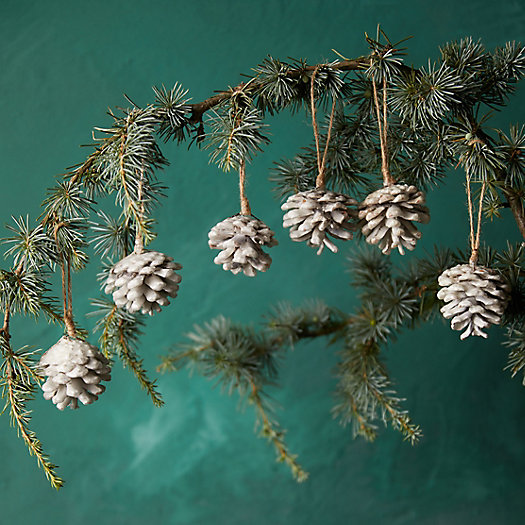 View larger image of Waxed Pine Cone Ornaments, Set of 6