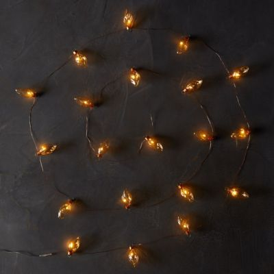 Mini LED Light String, Amber Bulbs