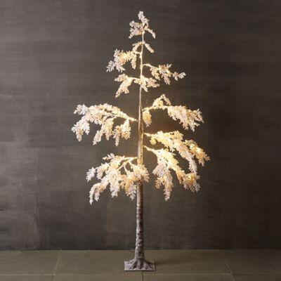 Pre-Lit LED Snowy Faux Tree