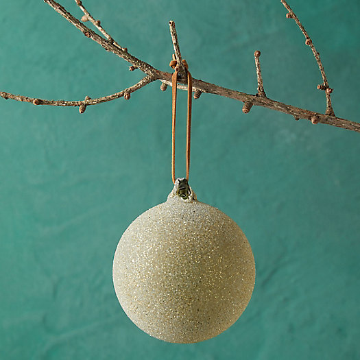 View larger image of Sugared Green Glass Ornament