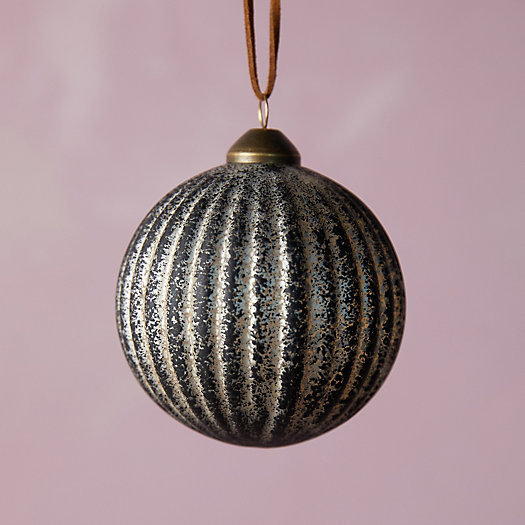 View larger image of Black Ridged Glass Ornament