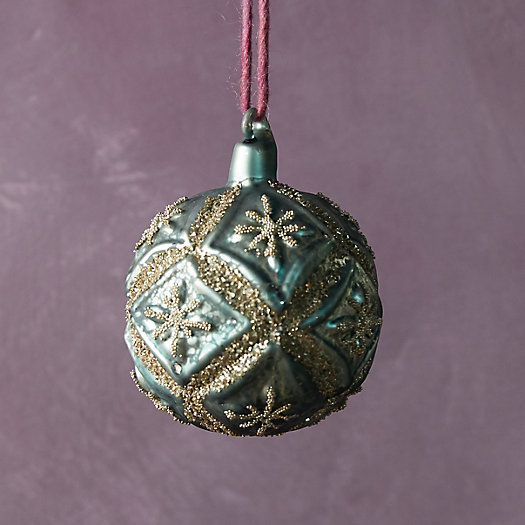 View larger image of Antiqued Glitter Globe Ornament