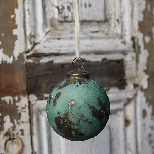 View larger image of Oxidized Copper Glass Globe Ornament