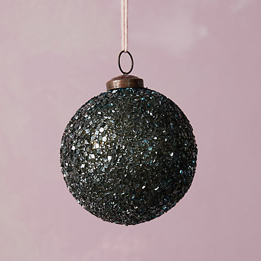 View larger image of Beaded Blue Glass Ornament