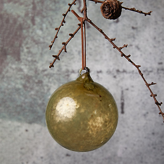 View larger image of Green Sequin Glass Globe Ornament