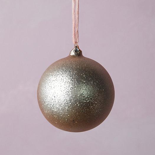 View larger image of Copper Glitter Glass Globe Ornament