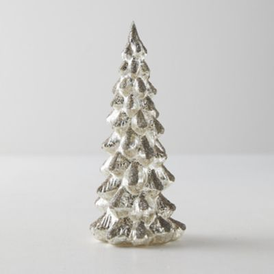 Glittered Glass Tree, Silver