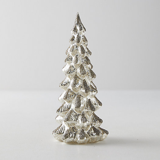View larger image of Glittered Glass Tree, Silver