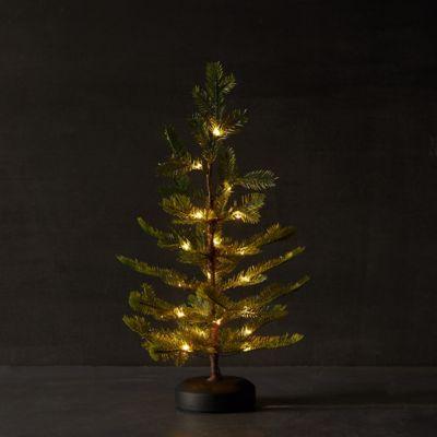 Faux Pre-Lit LED Glitter Tabletop Tree
