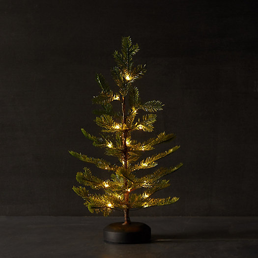 View larger image of Faux Pre-Lit LED Glitter Tabletop Tree
