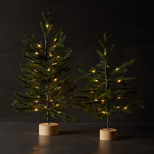 View larger image of Faux Pre-Lit Tabletop Tree with Wood Base