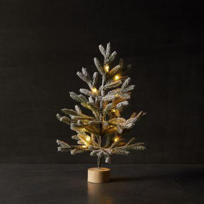 Faux Pre-Lit Snowy Tabletop Tree
