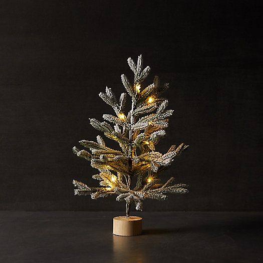 View larger image of Faux Pre-Lit Snowy Tabletop Tree