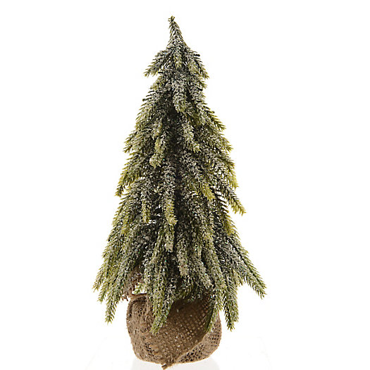 View larger image of Faux Snowy Tree, Jute Bag