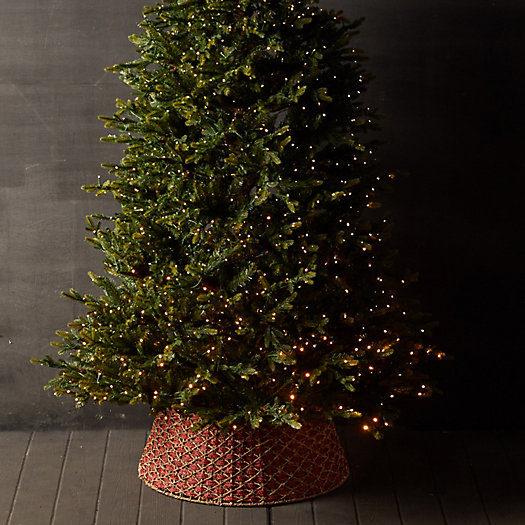View larger image of Woven Basket Tree Skirt, Red