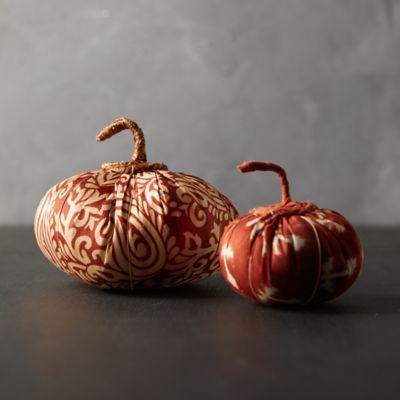 Recycled Sari Fabric Pumpkin