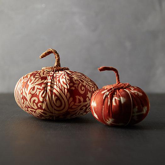 View larger image of Recycled Sari Fabric Pumpkin