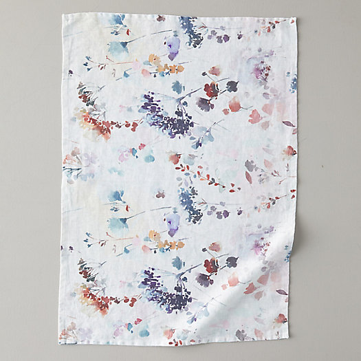 View larger image of Lithuanian Linen Dish Towel, Painted Florals