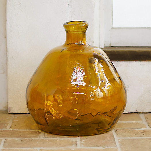 View larger image of Recycled Glass Vase, Amber