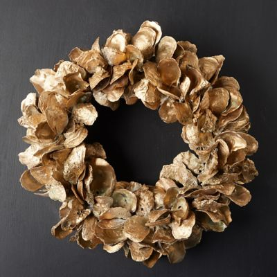 Dried Metallic Oyster Shell Wreath
