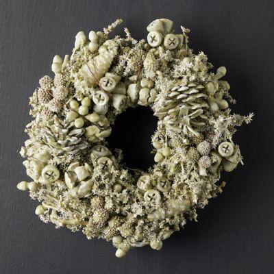 Waxed Fruit Wreath