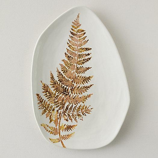 View larger image of Ceramic Fern Serving Platter