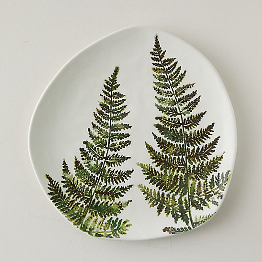 View larger image of Ceramic Fern Serving Plate