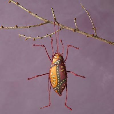 Recycled Sari Fabric Bug Ornament, Long