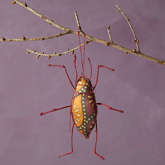 View larger image of Recycled Sari Fabric Bug Ornament, Long