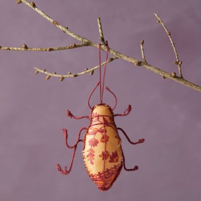 Recycled Sari Fabric Bug Ornament