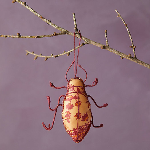 View larger image of Recycled Sari Fabric Bug Ornament