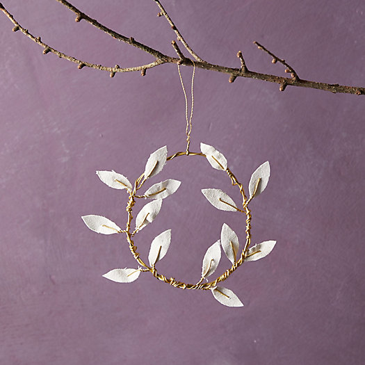 View larger image of Recycled Canvas Olive Leaf Wreath Ornament