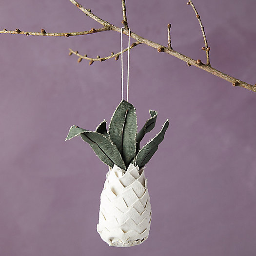 View larger image of Recycled Canvas Pineapple Ornament