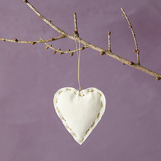 View larger image of Recycled Canvas Heart Ornament