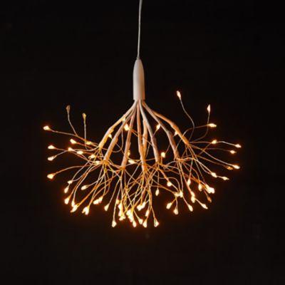 Stargazer Nature Effects Hanging Dandelion Stem, Twinkling